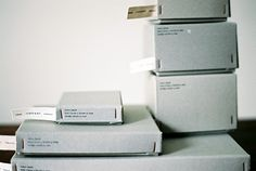 tagged boxes. by yumiko iihoshi porcelain.