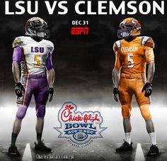 LSU VS CLEMSON 10 #clemson #chickfilabowl #eatmorechikin #lsu