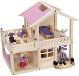 Family Home - Wooden Doll House Set - Woody Click Dollhouse with Dolls Playset - UPS Free Shipping  Price: $99.87  Retail Price: 129.95    Family Home - Wooden Doll House Set is more than a traditional dollhouse and offers endless possibilities for pretend play of your child. Build your own finely crafted 14 inch natural wood doll house with a simple 'click'.The p...Read More