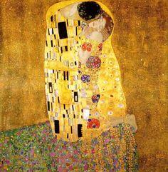 Gustav Klimt (1862-1918). The Kiss 1907–1908. Oil on canvas. Österreichische Galerie Belvedere.