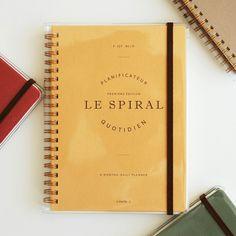인바이트엘 / Le spiral - 6months daily planner / BRAND : INVITE.L /  ORIGIN : KOREA /  MATERIAL : PAPER /  SIZE : W130 X H180 MM