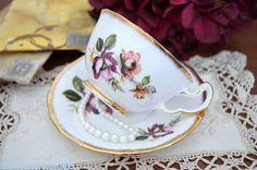 Royal Adderley doble rose teacup, CA. 1962-1988