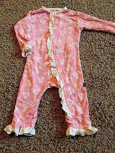 KicKee Pants Baby Girl Bamboo Pajamas Onesie One Piece 3-6 Months