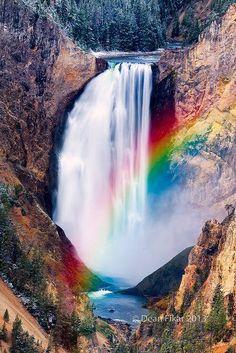 Rainbow at Yellowstone Lower Falls, Wyoming