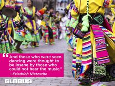 Enjoy traditional South American dancing on one of our tours to Brazil, Argentina, Peru or Chile. #Inspiration #Travel #Quotes