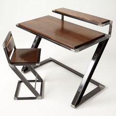 "Custom Made ""Miterz Pen Palz"" Industrial Writing Desk"