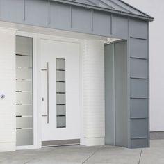 Porte d'entrée battante / en acier / semi-vitrée / à isolation thermique GENEO® Rehau