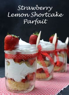 If you are looking for a dessert that is a delicious mix of tart and sweet, you will love this strawberry lemon shortcake parfait recipe.