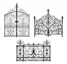 Ornate Vintage Gates as headboards - brilliant!! I want one.