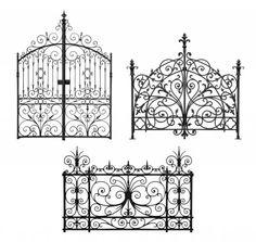 Ornate Vintage Gates as headboards - brilliant!! I want one.