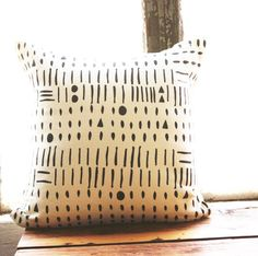 Morse Code Pillow Cover 18 x 18