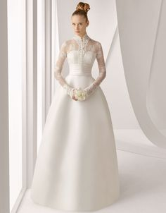 The Grace Kelly wedding gown by Rosa Clara. The back of the gown really look like this with 3 bows. Rosa Clara Wedding Dresses, Most Beautiful Wedding Dresses, Wedding Dress 2013, Wedding Dress Sleeves, Long Sleeve Wedding, Modest Wedding Dresses, Bridal Dresses, Flower Girl Dresses, Bridesmaid Dresses
