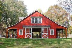 Casas Tudor, Plan Garage, Barn Shop, Barn Living, Metal Barn, Metal Horse Barns, Small Horse Barns, Wooden Barn, Barns Sheds
