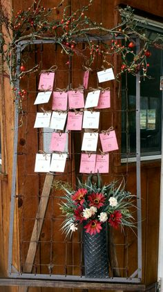 """""""Crib Springs"""" for table seating and escort card rental offered by Moments In Time Wedding & Event Rentals, 406.208.9549."""
