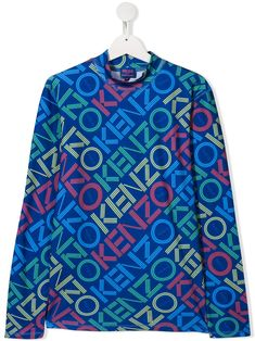 KENZO KIDS TEEN LOGO PRINT TOP. #kenzokids #cloth World Of Fashion, Kids Fashion, Fashion Design, Kenzo Kids, Roll Neck, Kids Outfits, Women Wear, Teen, Shirt Dress