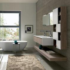 bagni moderni con doppio lavabo : composizione bagno sospesa ... - Bagni Moderni Doppio Lavabo