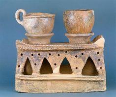 Etruscan civilization, 7th century b. C. Impasto cooker, from Vetulonia, Tuscany…