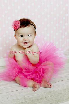 Headband and Tutu set...1st Birthday Tutu...Tulle Tutu...Baby Tutu...Newborn Tutu...Pink Tutu on Etsy, $30.00