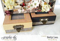 Communique Tool Box - Graphic 45 - Communique DCE - Belly Lau - Papercraft Buffet - Tutorial