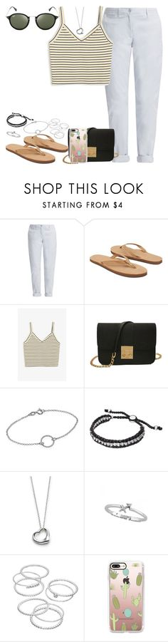 """""""Untitled #463"""" by findthefinerthings ❤ liked on Polyvore featuring French Connection, Rainbow, Monki, Links of London, Elsa Peretti, LC Lauren Conrad, Casetify and Ray-Ban"""