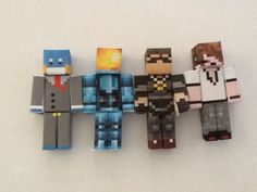 Minecraft Papercraft;HuskyMudKipz,TruMu,SkydoesMinecraft,and Deadlox