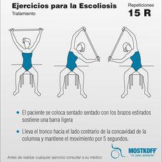 Los ejercicios a la curvatura de la columna vertebral a los niños