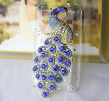 LUXURY 3D handmade peacock crystal cover CASE Samsung Galaxy Ace s5830 s5830i bl