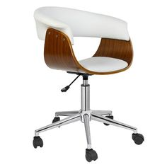 Antique Revival Liam Office Chair & Reviews | Wayfair  Poss Sheri desk chair if you need wheels? (its also 95$)