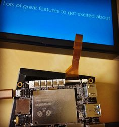 Yay! The #LattePanda Win10 #IoT computer with onboard #arduino arrived. Booting #windows10 by i.misiu