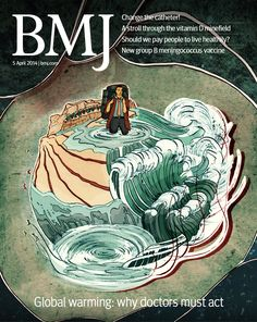 This week's climate change cover. Read Eric Chivian's essay on why doctors and their organisations must help tackle climate change, plus more from this issue at http://www.bmj.com/content/348/7952