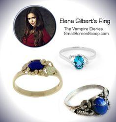 Elena Gilbert - The Vampire Diaries Rings - Lapis Lazuli