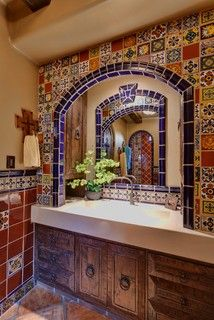 Spanish delight - mediterranean - bathroom - other metro - by Professional Design Consultants