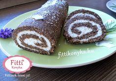 Fitti Konyha: Fitti paleo kókusztekercs recept (sütés nélkül) Paleo Dessert, Atkins, French Toast, Muffin, Food And Drink, Gluten Free, Pudding, Keto, Healthy Recipes