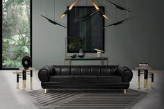Essential Home | Living Room Ideas. Black Leather Sofa. Living Room Inspiration. #leathersofa #modernsofas #livingroomideas Find more: http://www.essentialhome.eu