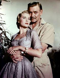 """Grace Kelly y Clark Gable en """"Mogambo"""", 1953"""