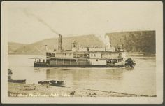 """Falls City"" stern wheeler real photo postcard - Steamboats Stern wheelers Postcards"