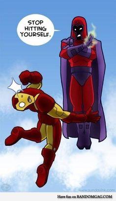 Ironman vs Magneto The Battle! Hahahaha
