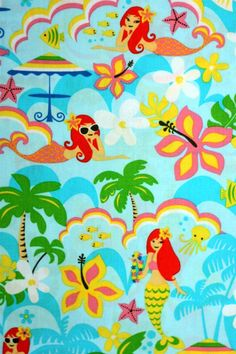 Mermaid Fabric by quilttaffy on Etsy, $9.50