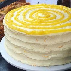 Sherbet Lemon, Cake Stall, Lemon Frosting, Chiffon Cake, Spiral, Bakery, Organic, Treats, Shop
