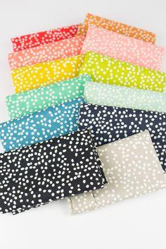 Jay-Cyn Designs for Birch Organic Fabrics, Mod Basics 3, Firefly Dots Pond