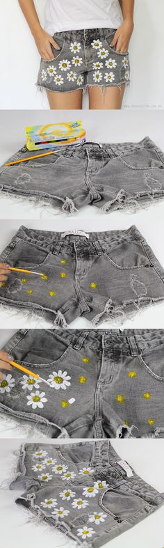 DIY Fashion Ideas – What you Need to be Creative – Designer Fashion Tips Diy Fashion, Ideias Fashion, Womens Fashion, Atelier Couture Diy, Salopette Jeans, Diy Shorts, Diy Vetement, Diy Mode, Diy Clothes Videos