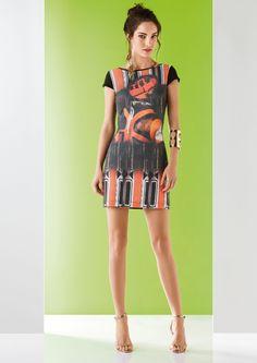 Vestido confeccionada com artigo Nanete - Bio Mix estampado em digital - Exclusivo para Morena Rosa Lookbooks :: Morena Rosa