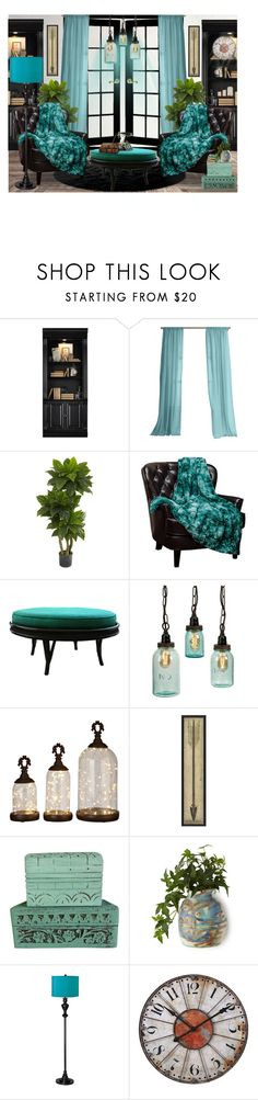 """""""Reading Nook"""" by blondemommy ❤ liked on Polyvore featuring interior, interiors, interior design, home, home decor, interior decorating, Hooker Furniture, Nearly Natural and Possini Euro Design"""