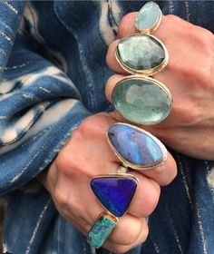 I nearly died for the indigo triangle ring 💙 Jewelry Rings, Jewelery, Silver Jewelry, Jewelry Accessories, Jewelry Design, Silver Rings, Chunky Rings, Big Rings, Modern Jewelry