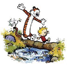 Calvin and Hobbes Log Walking Print