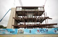 A new entertainment complex is coming to the Virginia Beach Oceanfront. Construction of the flight chamber for iFLY Va Beach, an indoor skyd...