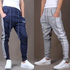 2013 new mens pants hip hop sports wear slim fit jumpsuit men british style sweatpants/trousers man