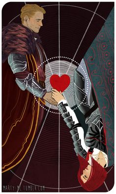 Awesome tarot card commission of my rogue Inquisitor Hrist Trevelyan and Cullen…