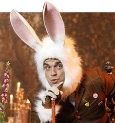 Robbie Williams in Wonderland Robbie Williams Take That, Wonderland, Gary Barlow, Happy Easter Everyone, Playboy Bunny, Occult, My Idol, Fancy, Ears