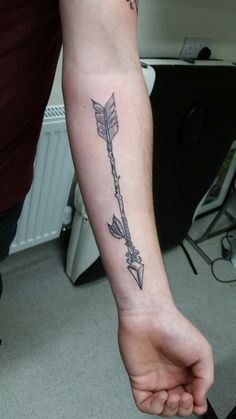 My arrow tattoo done by jake wilson